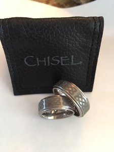 Chisel Dura Tungsten 8mm Brushed & Polished Band
