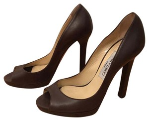 Jimmy Choo Dark Brown Pumps