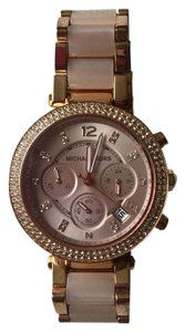 MICHAEL Michael Kors Parker Rose Gold-Tone Blush Acetate