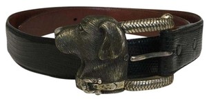 Barry Kieselstein-Cord Labador dog solid sterling silver buckle