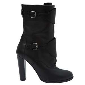 Herms Leather Black Boots
