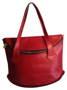 Delvaux Tote in Red