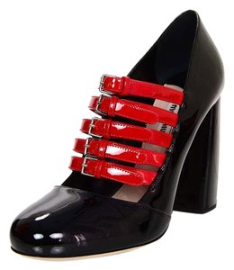Miu Miu Patent Leather Buckles black Pumps