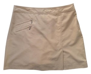 Izod Skort Mini Skirt Beige