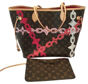 Louis Vuitton Lv Neverfull Tote in Pink Brown