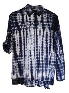 Nanette Lepore Cotton Button Down Shirt shibori
