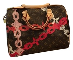 Louis Vuitton Speedy Speedy 30 Speedy Lv Palm Bay Satchel in Pink Brown