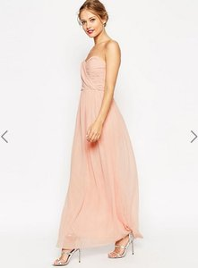 ASOS Blush Asos Wedding Bandeau Maxi Dress