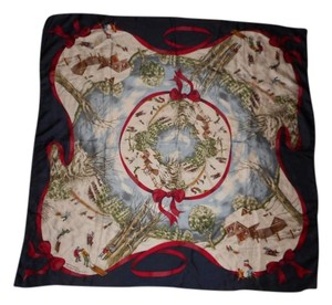 Talbots Silk Holiday Scarf