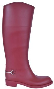 Gucci Rain Rain Knee High pink Boots