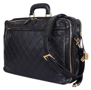 Chanel Vintage Duffel Classic Duffle Black Travel Bag