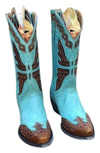 Old Gringo Aqua blue, brown, red Boots