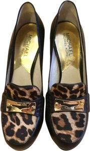 Michael Kors Black with leopard calf hair Platforms