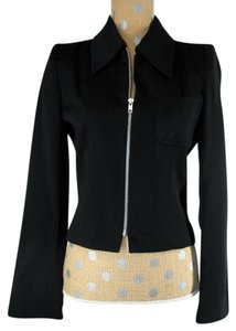 Ann Demeulemeester Zip Up Wool Black Jacket