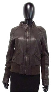 Michael Kors Leather Brown Leather Jacket