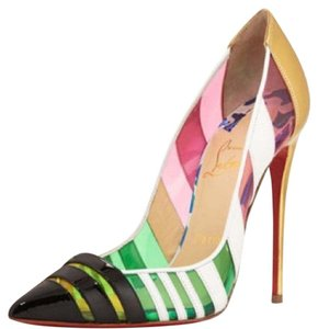 Christian Louboutin Pink and green Pumps