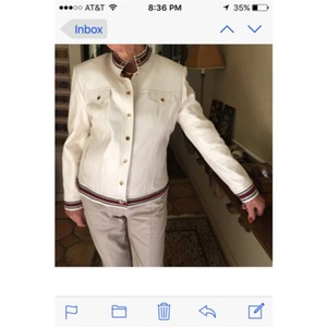 St. John White Leather Jacket
