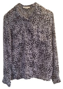 Other Button Down Shirt Animal Print grey
