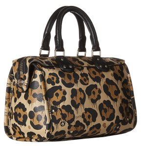 Coach Crossbody Leather 36107 Satchel in LEOPARD