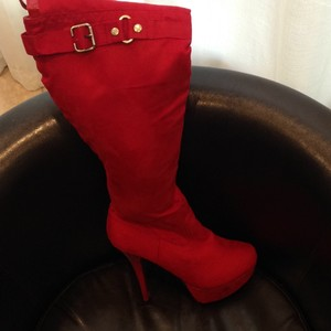 JustFab Red Boots
