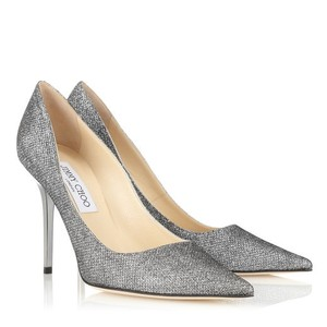 Jimmy Choo Anthracite Silver Pumps