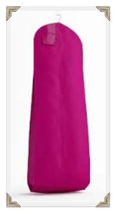 The Last Minute Bride Fuchsia Breathable Zippered Garment Bag