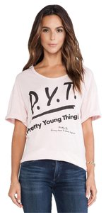 Junk Food Pretty Young Thing T Shirt Shell Pink