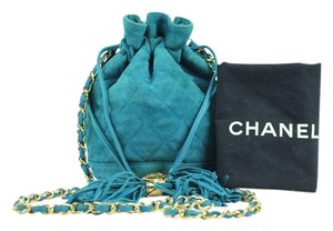 Chanel Drawstring Bucket Quilted Crossbody Shoulder Bag