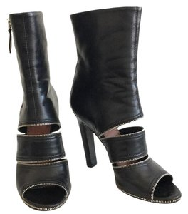 ALAÏA Peep-toe Zipper Cut-out Black Boots