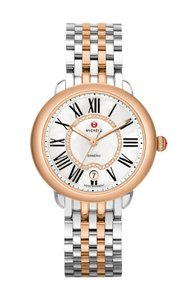 Michele NEW Serein 16 Diamond Dial Two Tone Rose Gold MWW21B000048 Watch