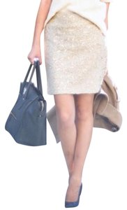 Banana Republic New Mini Skirt Champagne Sequin