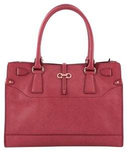 Salvatore Ferragamo Leather Tote in Red