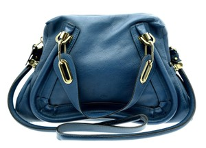Chlo Shoulder Satchel in Blue