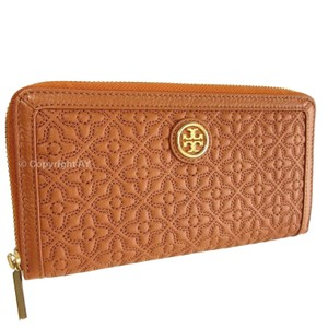 Tory Burch Tory Burch Bryant Zip Quilted Leather Continental Wallet