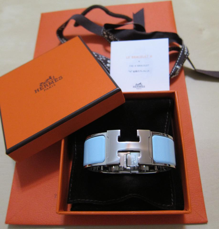 herm s nwt sold out hermes brand new clic clac h bracelet in baby blue 37 off retail. Black Bedroom Furniture Sets. Home Design Ideas