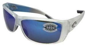 Costa Del Mar Polarized COSTA Sunglasses CAT CAY AT 39 Matte Crystal w/ Blue Mirror