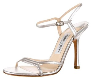 Jimmy Choo Holiday Leather Silver Formal