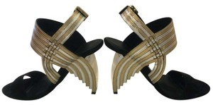 Salvatore Ferragamo Gold & silve Sandals