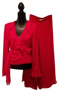 St. John Vintage Evening Top Cranberry Red