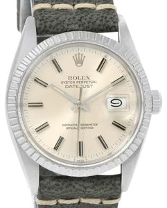 Rolex Rolex Datejust Steel Silver Dial Vintage Mens Gray Strap Watch 16030