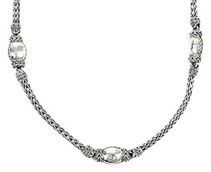 John Hardy John Hardy Palu Sterling Silver Faceted Bead Wheat Necklace