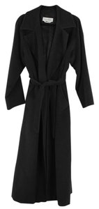 Max Mara Charcoal Wool Cashmere Coat