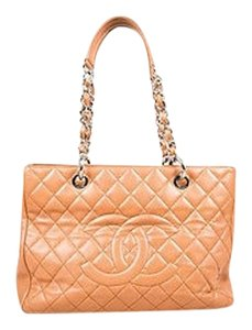 Chanel Camel Brown Caviar Tote in Beige