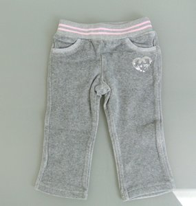 Gucci Gray W New Kids Track Pant W/Heart Gg Detail 6-9 Month 265373 Groomsman Gift