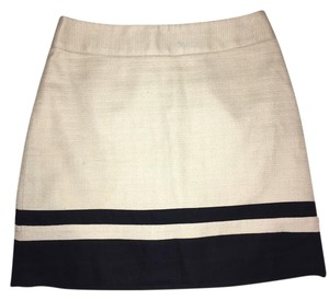 Ann Taylor LOFT Mini Skirt Cream