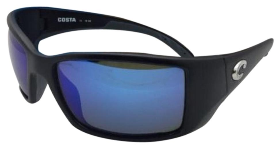 529b47c1ba1 Costa Del Mar Polarized COSTA Sunglasses BLACKFIN BL 11 Matte Black w Blue  Mirror Image ...