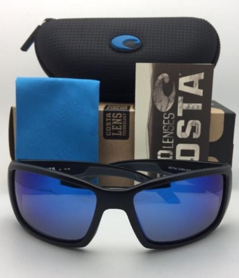 aef045613b Costa Del Mar Polarized Blackfin Bl 11 Matte Black Frame W Blue ...