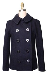 NLST Wool Double Breasted Blue Pea Coat