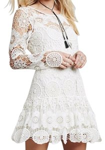 Free People short dress white/cream on Tradesy
