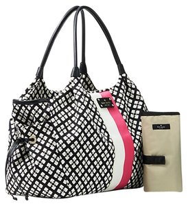 Kate Spade Cream Pink Black Diaper Bag
